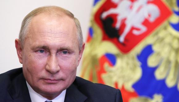 El presidente de Rusia, Vladimir Putin, aliado de Nicolás Maduro. (Mikhail KLIMENTYEV / Sputnik / AFP).