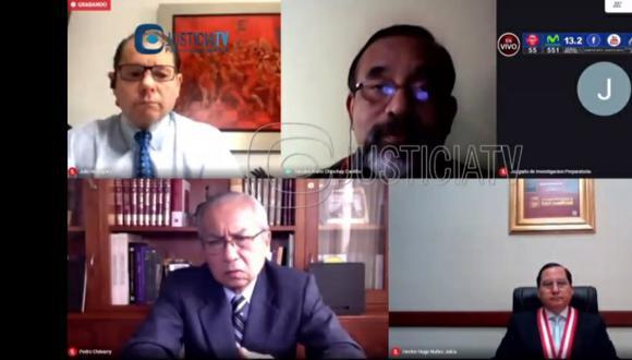El juez Hugo Núñez Julca dejó al voto el pedido de la fiscalía para suspender por 18 meses al fiscal supremo Pedro Chávarry. (Imagen: Justicia TV)