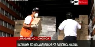 Coronavirus en Perú:  Donan 120 mil latas de leche para la zona de Jicamarca en SJL
