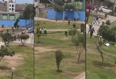 Callao: dictan prisión preventiva a tres sujetos que agredieron a policías en intervención en parque | VIDEO