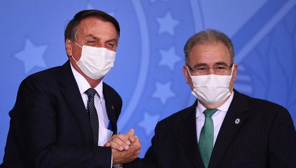 """El ministro de Salud brasileño, Marcelo Queiroga, """"dio positivo para COVID-19"""" tras participar este martes en la Asamblea General de la ONU en Nueva York. (Foto: Evaristo SA / AFP / Archivo)"""