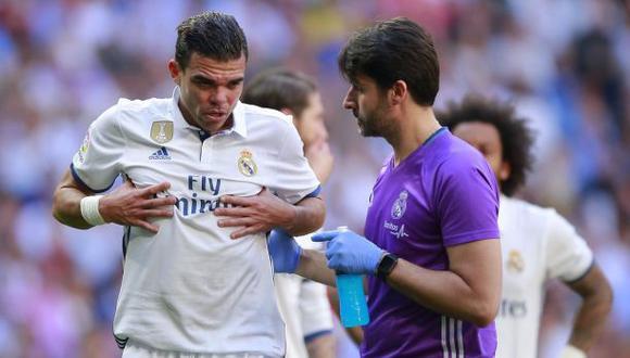 Real Madrid: Pepe se rompió dos costillas y es duda en la Liga