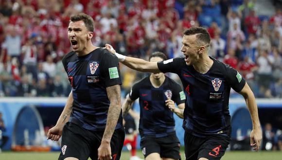 Croacia y Dinamarca definieron la serie en tanda de penales con marcador 3-2 favorables para los croatas en el Mundial Rusia 2018. En los 90 minutos igualaron 1-1. (Foto: AFP)