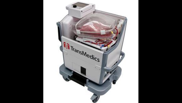 Esta tecnología permite aumentar de 3 a 8 las horas que un órgano puede mantenerse fuera del cuerpo.(TransMedics)