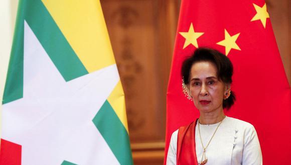"""Aung San Suu Kyi, de 75 años, parece encontrarse en """"buen estado"""", según uno de sus abogados en los procesos que le siguen. (Foto: Archivo/Nyein CHAN NAING / POOL / AFP)"""