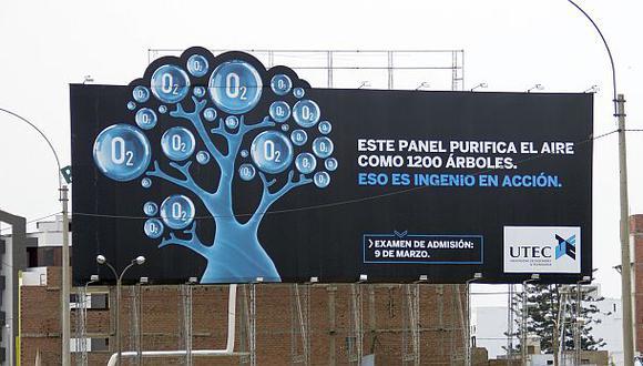 UTEC crea panel que purifica el aire como 1.200 árboles