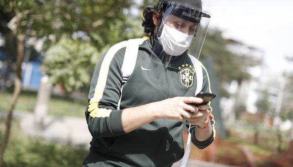Los protectores faciales cubren ojos, nariz y boca. (Foto: César Campos/GEC)