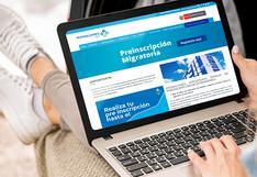 Migraciones amplía plazo de preinscripción migratoria de personas extranjeras