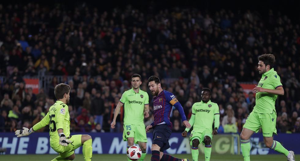 Barcelona vs. Levante: Messi puso de pie al Camp Nou con este golazo para el 3-0. (Foto: AFP/Reuters/AP)