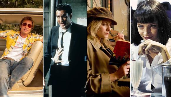 "De izquierda a derecha: Brad Pitt en ""Once Upon a Time in Hollywood""; Michael Madsen en ""Reservoir Dogs""; Melanie Laurent en ""Inglorious Basterds""; y Uma Thurman en ""Pulp Fiction"". (Fotos: Difusión)"