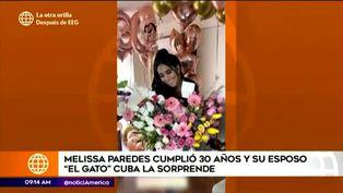 Melissa Paredes recibe tierna sorpresa de su esposo Rodrigo Cuba por su cumpleaños