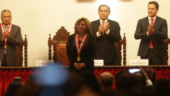 Los titulares de los tres poderes del Estado asistieron a la ceremonia de juramentación de Zoraida Ávalos, fiscal de la Nación. (Foto: Alonso Chero)