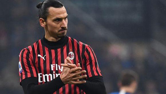 Zlatan Ibrahimovic llegó al AC Milan esta temporada proveniente de Los Angeles Galaxy de la MLS. (Foto: AFP)