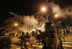 Policía confirma uso de perdigones de goma para controlar protestas en el Cercado de Lima