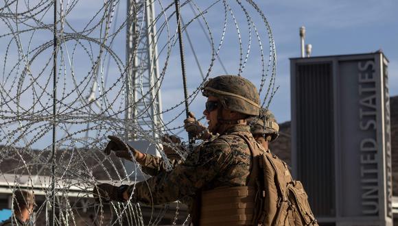 EE.UU. ha desplegado a 5.900 soldados en California, Arizona y Texas para dar apoyo logístico a la Oficina de Aduanas y Protección Fronteriza. (AFP)