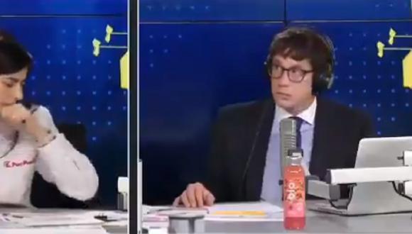 Periodista Jaime Chincha tuvo peculiar reacción cuando la ministra de Economía tosió en entrevista. (Foto: Captura RPP)