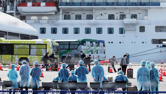 El crucero Diamond Princess estuvo en cuarentena en Yokohama, Japón, por más de dos semanas. (EFE).