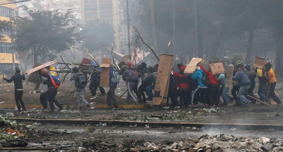 Estallan nuevos choques entre la policía de Ecuador y manifestantes en Quito. (REUTERS/Henry Romero).