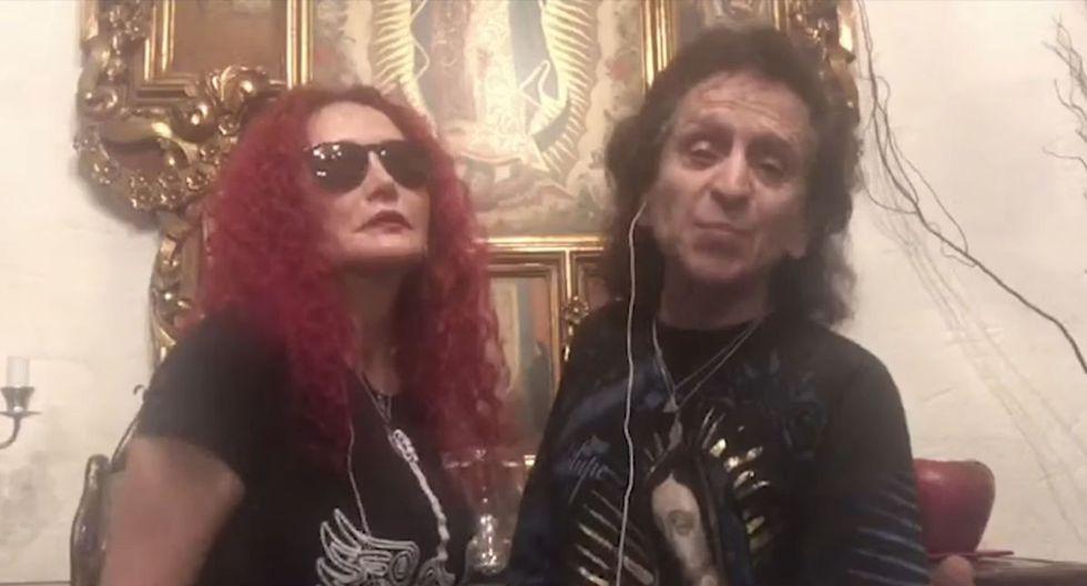 Entre los invitados especiales del videoclip estuvieron Alex y Chela Lora, de El Tri de México. (Foto: AMÉN Rock Perú)