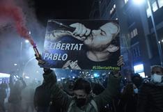 Incidentes y detenidos en varias manifestaciones de apoyo al rapero Pablo Hasel   FOTOS