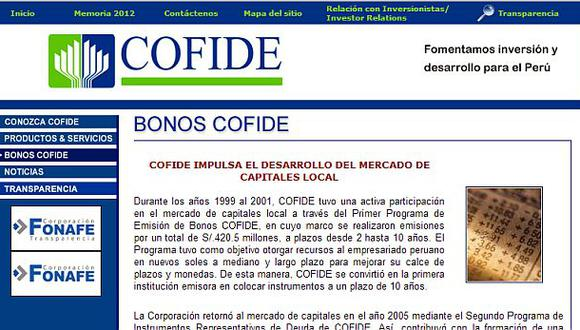 Cofide emitirá bonos en el mercado internacional este año
