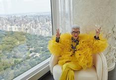 Con 100 años de edad, la musa de la moda Iris Apfel anuncia colaboración con H&M