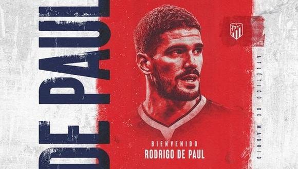 Rodrigo De Paul será jugador de Atlético de Madrid hasta junio del 2026. (Foto: Atlético de Madrid)