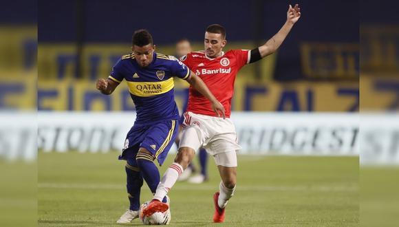Boca Juniors vs. Internacional de Porto Alegre se enfrentaron por el pase a cuartos de final. (Foto: @BocaJrsOficial)