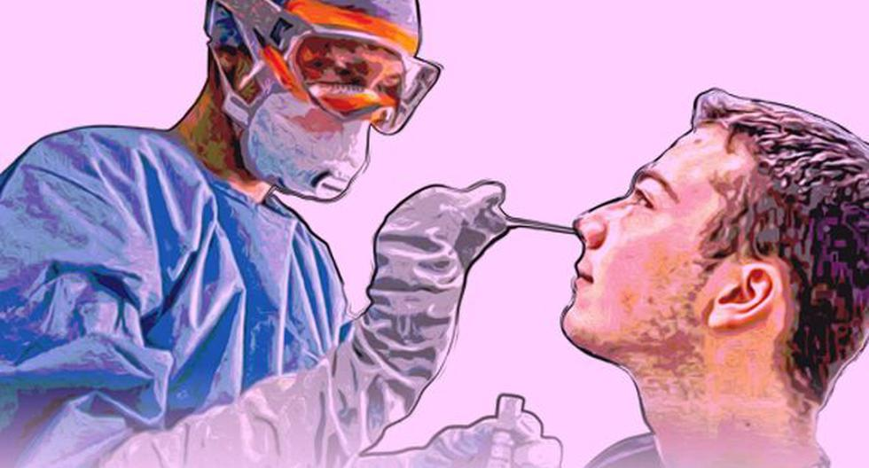 La extracción de muestras a través del hisopado es una fase clave para la prueba de diagnóstico del covid-19 molecular. (Ilustración: Jean Izquierdo)