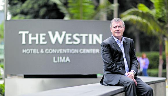 Jorge Melero ha liderado la asimilación de Inversiones La Rioja a Intursa. Señala que con la adquisición han evolucionado en segmentos como el de lujo.  El hotel Westin es uno de sus hoteles emblemáticos. (Foto: El Comercio)