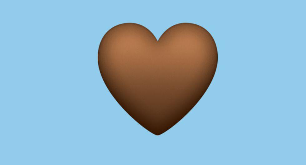 El corazón marrón llega a WhatsApp y este es su significado. (Foto: Emojipedia)