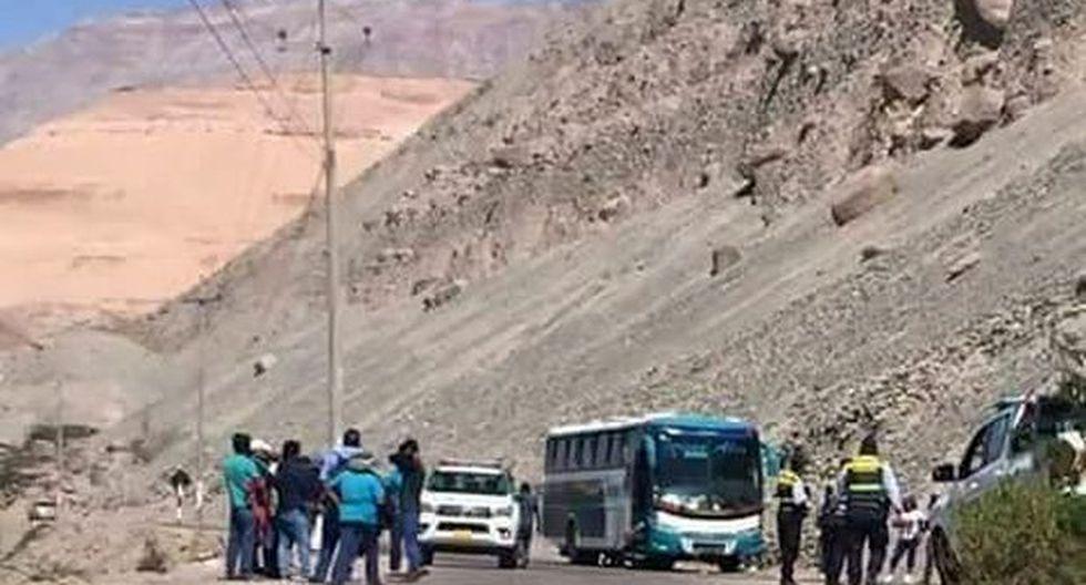 Tras la detención, los sujetos fueron trasladados a la localidad de Chuquibamba para ponerlos a disposición de la fiscalía (Foto: Carlos Zanabria)