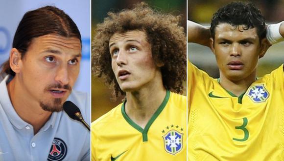 Sorpresiva respuesta de Zlatan sobre David Luiz y Thiago Silva