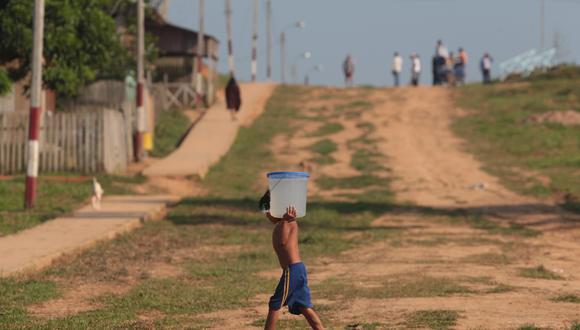 La mayoría de los niños pobres acceden a la educación básica. (Foto: Juan Ponce   GEC)