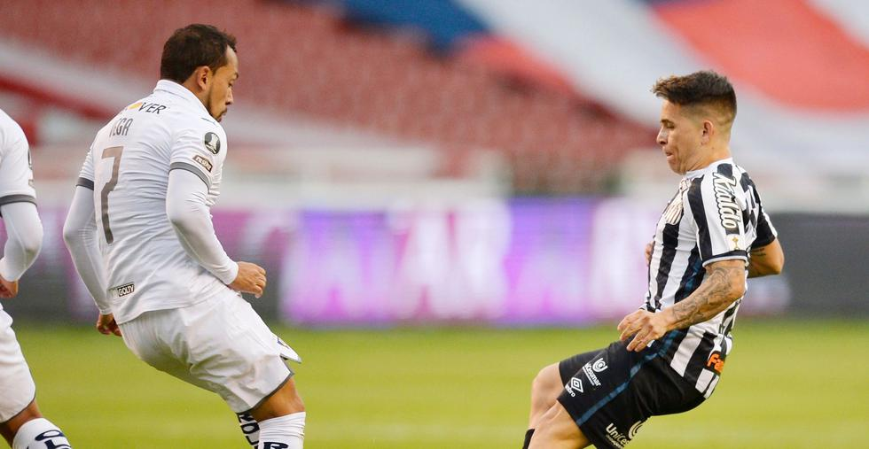LDU - Santos, por Copa Libertadores. (Foto: AFP)