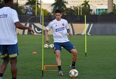 James Rodríguez entrenó con normalidad con Colombia previo al duelo amistoso ante Perú en Estados Unidos