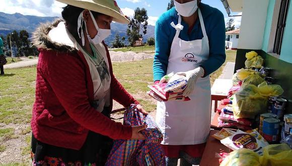 En la primera etapa se entregaron productos no perecibles, como fideos, arroz, azúcar, menestras, leche, conservas de pescado, entre otros. (Foto: Midis).