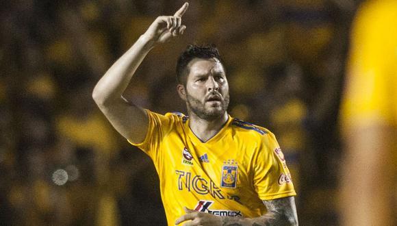 Tigres UANL venció 1-0 al León con un gol del francés André Pierre Gignac y tomaron ventaja en la final del torneo Clausura 2019 de la Liga MX que se decidirá el próximo domingo en León. (Foto: AFP)