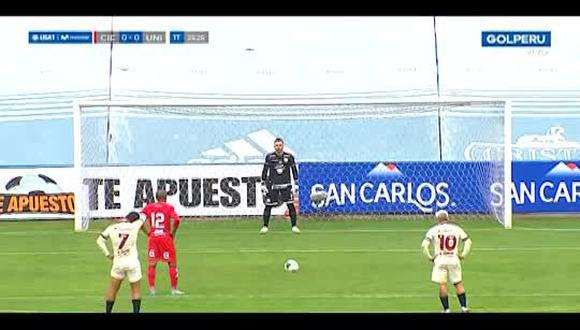 Penal y gol de Ísmodes: Universitario de Deportes vs. Cienciano (Video:GOLPERÚ)