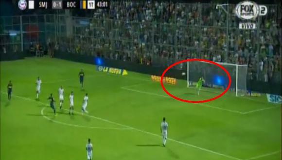 Boca Juniors vs. San Martín: Mauro Zárate marcó el 2-0 con golazo al ángulo. (Foto: captura)