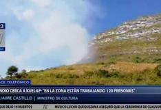Amazonas: incendio forestal se registra a 800 metros de la Fortaleza de Kuélap