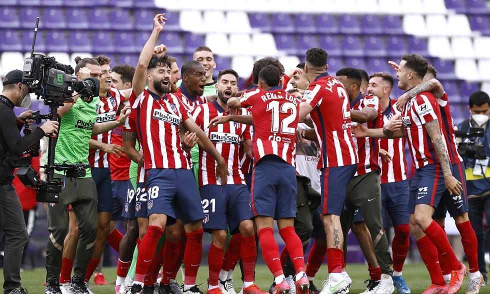 Atlético de Madrid y Valladolid se enfrentaron en la última fecha de LaLiga | Foto: REUTERS