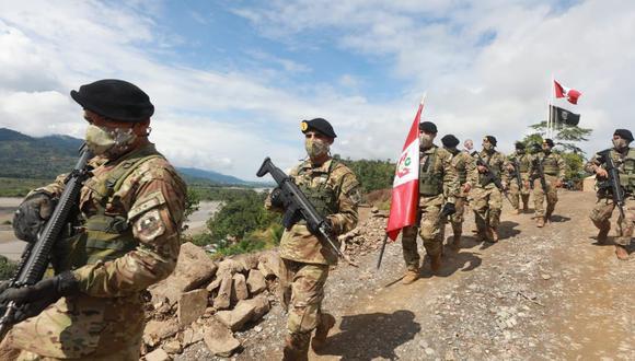 La base militar fue instalada en la capital del distrito de Vizcatán del Ene, una zona controlada por los remanentes de Sendero Luminoso (Foto: Mindef)