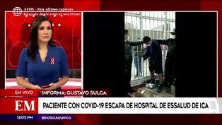 Ica: paciente con Covid-19 escapa de hospital de Essalud