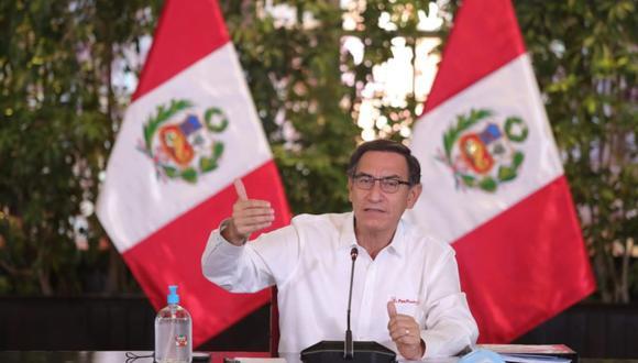 El presidente informó sobre los avances en la lucha frente al coronavirus en el día número 45 del estado de emergencia. (Foto: Presidencia)