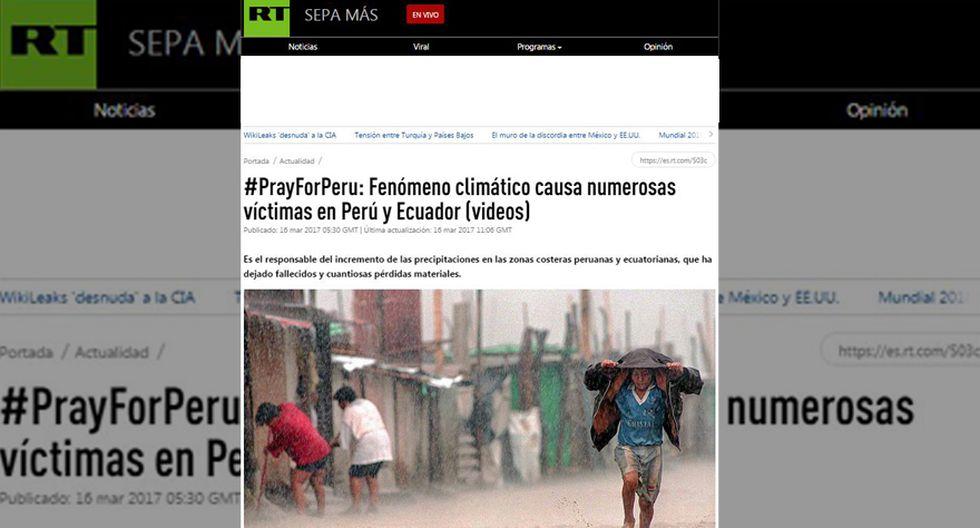 Así informa la prensa mundial sobre las lluvias en el Perú - 10