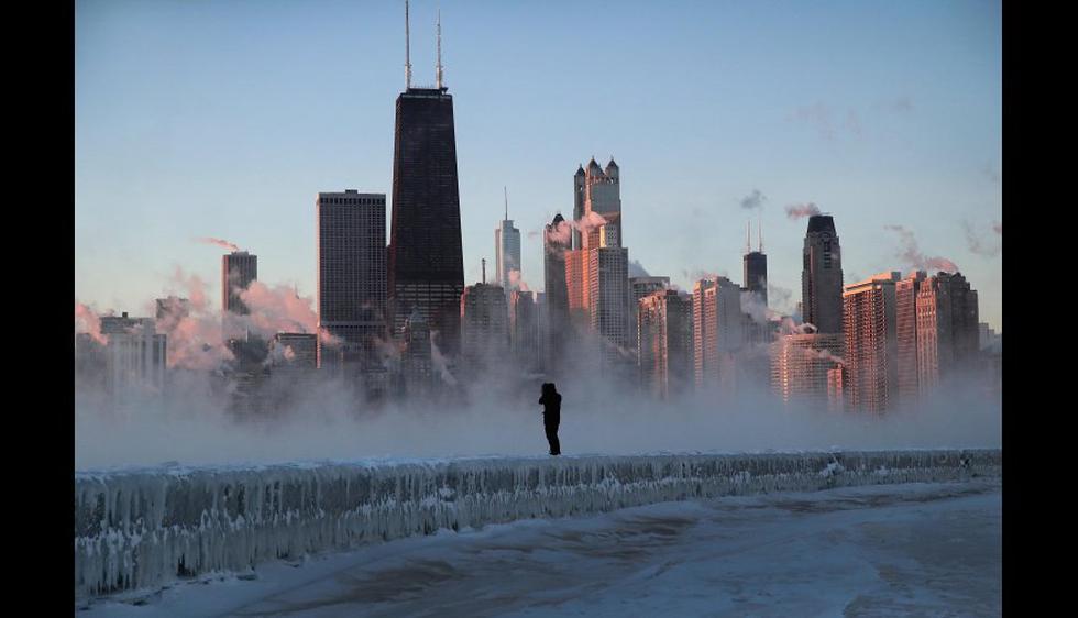 El 75 % de la población de Estados Unidos continental, lo que supone cerca de 216 millones de habitantes, sufre temperaturas bajo cero. (Foto: AFP)