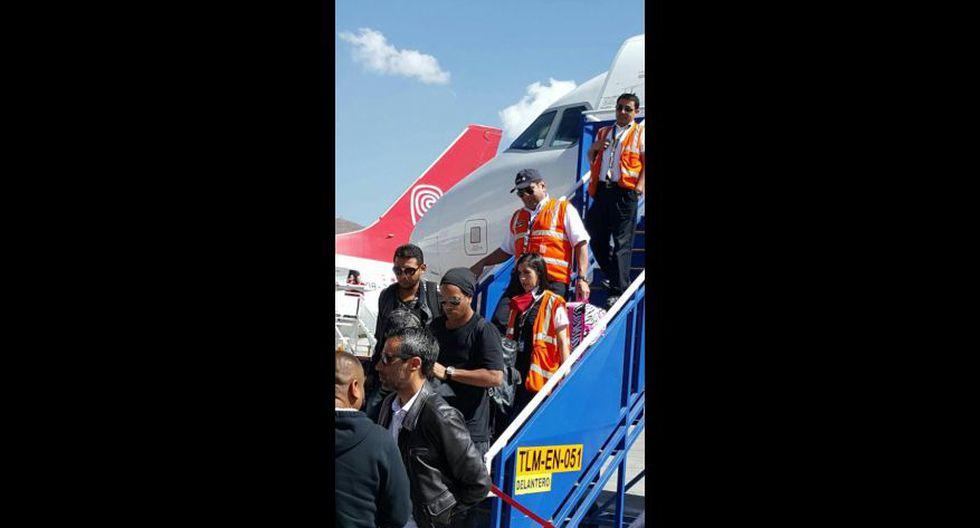 Ronaldinho llegó a Cusco en medio de gran expectativa [FOTOS] - 1