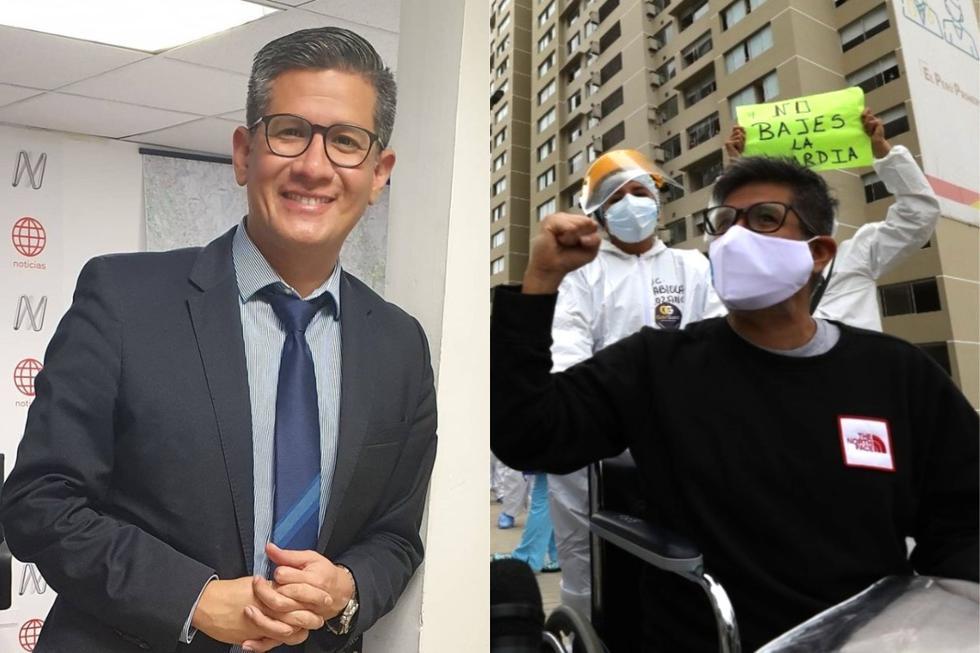 Luego de 9 días de internamiento y 14 días de enfermedad, el periodista deportivo venció la enfermedad. (Foto: EsSalud).