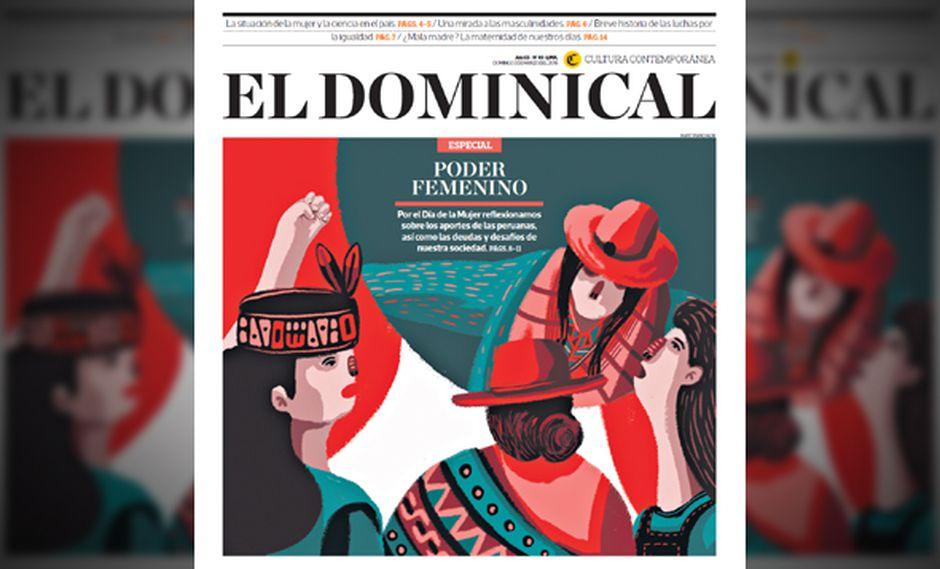 Portada de la edición especial de El Dominical de El Comercio hecha por mujeres.